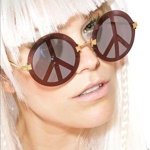 Wildfox Peace Round Mirror Sunglasses